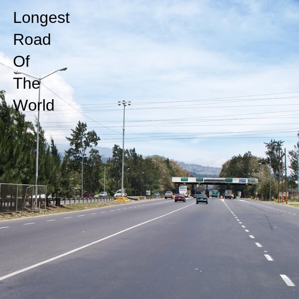 Pan American Highway is the longest road of world without any doubts. There have been many attempts to race on this highway but they usually fail with in the first few days, because their car can't handle it.