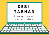 Icon of desi tashan. An computer with blue lines and yellow background cartoon style.