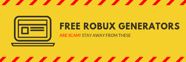 This image shows that all free robux generators are scam. Or they lead to a fake website. If you do not follow the instructions from this article you might lose your account if you are not catios enought.