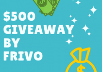 Frivo just launched their giveaway and thisis one of the photos for their giveayway. There are two money symbols and text $500 $ giveaway by our compnay