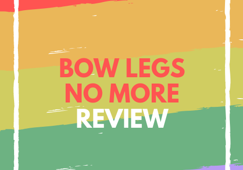 "Within this picture, you will be able to see text ""bow legs no more review"" in the middle of the picture. Text is red and white. Around the text is white square. The background is consistent with five different colors, purple, green, light green, orange, and red. This is one of the most famous photos for this ebook program."