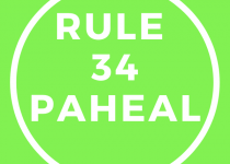 This featured image with 600 by 600 dimensions is created in colors of rule 34 paheal website. Since the article for which this picture was created is about the same site. It has a bright green background and white text with a white circle around the text.