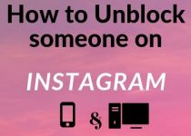 How to Unblock someone on Instagram tutorial both for smartphones where this can be done on the IG app or on desktop computer, where this has to be done via internet browser