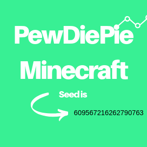 This is what most of you came here for. The PewDiePie minecraft seed is 609567216262790763, if you use this you will be able to recreate his in game world.