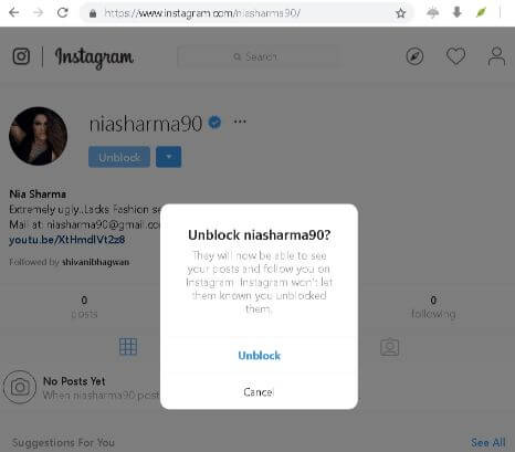 how to unblock instagram is not rocket science and with these step by step screenshots you should be able to do it quite fast. CLick on unblock in this step.