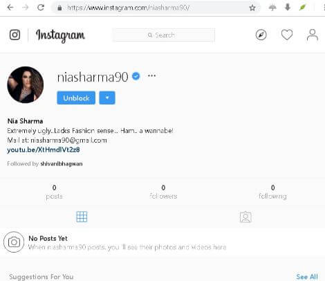 In this step of how to unblock on instagram without the app on desktop pc, you have to click on Unblock button