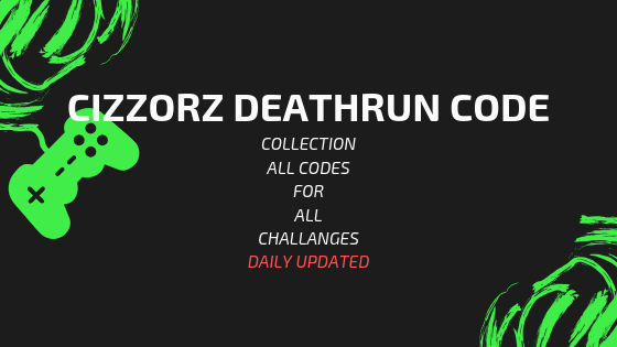Are you looking for cizzorz deathrun code? You should read this article. Where I shared all of his codes for new challanges