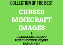 Collection of the best cursed minecraft images & illegal minecraft building techniques explained