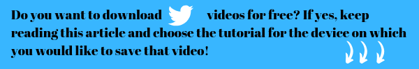 It is not as hard as many people think to download twitter video. But on each device is quite different method on how you can save that video to that device. So I have written 4 different guides here. One for iphones and ipads. One tutorial for mac, one for android and lastly one for desktop computers.