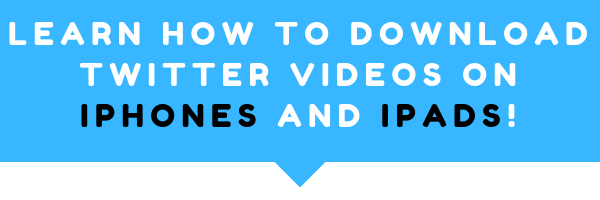 Learn how to download twitter videos iphone way and also on ipads and other iOS devices. RIght below this image is a step by step tutorial, which will teach you the best and easiest process on how to do this in 11 steps