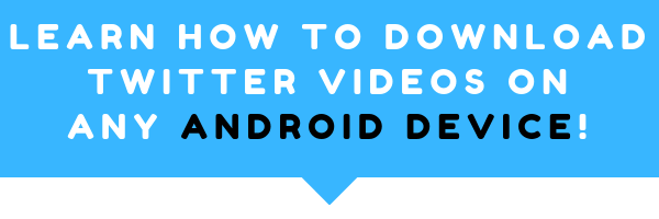 how to download videos from twitter android app? Yes it is possible and it is not that hard of a process. Right below this image is 101 guide how you can do this on android just in 5 easy steps