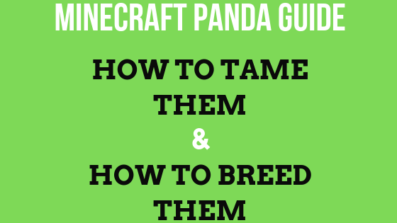 This is ultime panda guide, you will learn how to tame pandas in Minecraft and also how you can breed them easily, both of these are 101 tutorials which are easy to understand